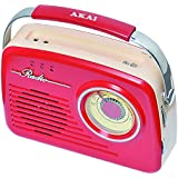 Akai AR78R Radio AM/FM Rouge