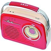 Akai AR78R Radio AM/FM Rouge