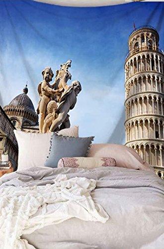 City Scenery Tapestry 100% poliestere–Memorecool telo mare casa appeso coperta ufficio coperte 149,9x 129,5cm, Poliestere, city34, 59x79inch city5