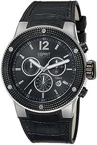 Esprit Collection - EL101281F01 - Montre Homme - Quartz Chronographe - Aiguilles lumineuses/Chronomètre - Bracelet Cuir Noir