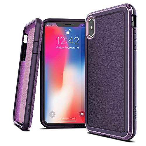 X-Doria 473187 Defense Ultra - Aluminium Tasche für Apple iPhone XS Max (Drop Test 4m) Purple