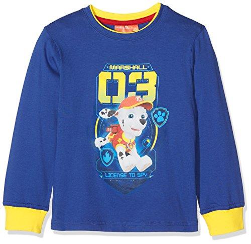 Nickelodeon paw patrol license to spy, t-shirt bambino, blu (blue 19-3952tc), 2-3 anni