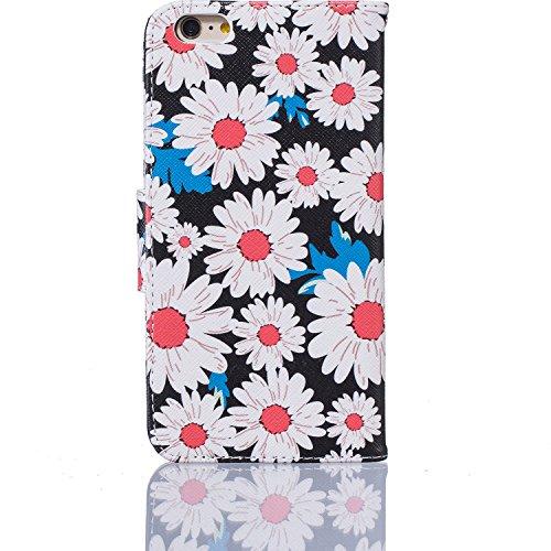 SKYXD für iphone 6 Plus / 6S Plus Hülle Leder Leopard Muster Folio Klappbar Handy Tasche Schutzhülle [Magnet / Brieftasche Kartenfach / Standfunktion] Klapphülle mit [Handyanhänger + Eingabestift] Zub Design 06