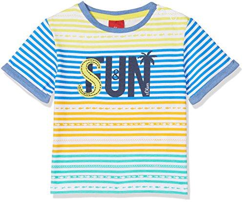 s.Oliver s.Oliver Baby-Jungen T-Shirt 65.805.32.5188 Blau (Blue AOP 55b5), 68