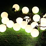 Cadena de luces LED Salcar de colores, de 5 metros y 50 farolillos. Decoración para navidad, fiestas y celebraciones (blanco cálido)