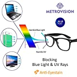 Metrovision Blue Ray Cut UV420 Unisex Wayfarer Spectacle for Eye Protection During Watching