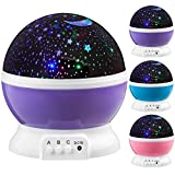Next Generation 360 LED Starlight, Sternenlicht Projektor Sternen Einschlafhilfe Baby Nachtlicht für Kinder - violett