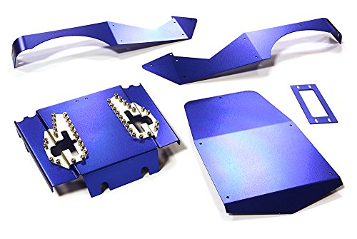 Integy RC Model Hop-ups C27672BLUE Aluminum Alloy Body Panel Kit for Axial 1/10 Wraith Rock Racer (Rc Kit Body Car Drift)