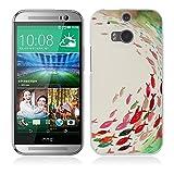 Fubaoda HTC One M8 Hülle, 3D Erleichterung Ästhetisch Muster TPU Case Schutzhülle Silikon Case für HTC One M8
