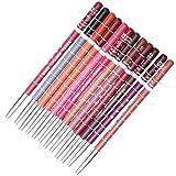 Naisicatar matita per labbra professionale per donne, impermeabile, 15cm, 12colori e pennello per labbra