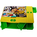 MASU Disney & Marvel HMI Original Gadget Jumbo Yellow Pencil Box, Minions Characters, Pencil Box For Kids (colour May Vary From The Displayed Picture)