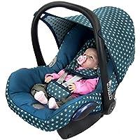BAMBINIWELT Ersatzbezug für Maxi-Cosi CabrioFix 6-tlg., Bezug für Babyschale, Komplett-Set STERNE TÜRKIS *NEU*