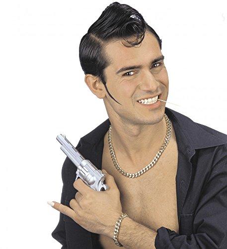 shoperama Glieder Gold-Kette und Armband aus Metall für Gangster Rapper Zuhälter Hiphop Assi Proll Mafiosi