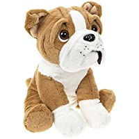 27 cm Cute Sitting British English Bulldog Dog Puppy Teddy Soft Plush Beanie Toy