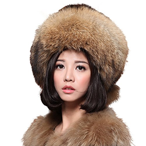 ONEWORLD High Quality Women's Man-made Mink Fur Russian Style Snow