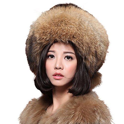 ONEWORLD High Quality Women's Man-made Mink Fur Russian Style Snow