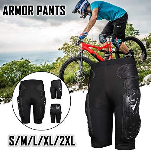 HEROBIKER Protettiva Armatura Pants Hockey Knight Gear for Motorcycle Motocross Racing Ski, Uomo, Nero, M