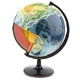 Homyl Erdkruste Globus Querschnitt Modell Topographie Globus Geographie Wissenschaft Spielzeug, zeige die 4 Hauptschichten der Erde und Temperaturen
