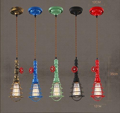 Ristorante vintage bar Lampadario corda canapa industriale rurale americana di tubo Lampadario in ferro battuto lampadari decorativi , red , a
