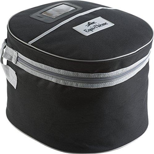 EQUI-THÈME Helmtasche, schwarz/grau