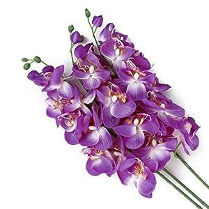 Winomo 1 Pc artificiales mariposa Orquídea Flor Planta Home Decoración (Lila) …