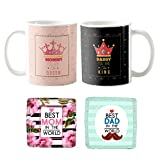 Best Mom Dad Mugs - YaYa cafe Mothers Day for Mom Dad, King Review