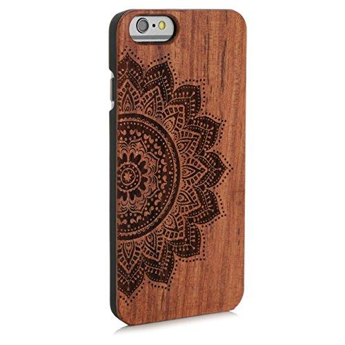 Arktis iPhone 8 / 7 Case, Arktis Holzhülle Holz Cover - Weltkarte Mandala