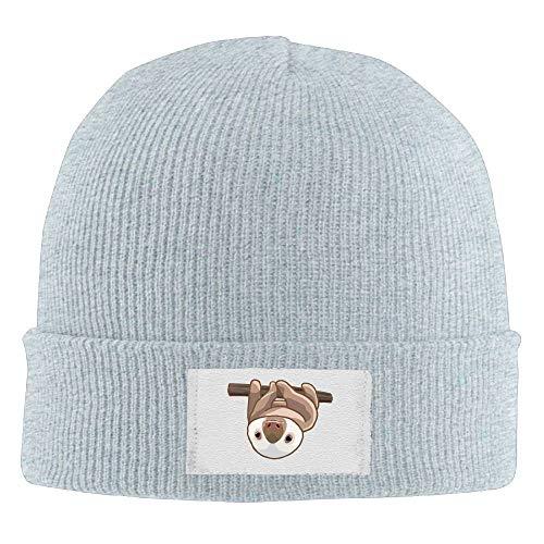 Nicegift Unisex Funny Sloth Winter Acrylic Knit Beanie Hat Skull Cap Acrylic Knit Beanie