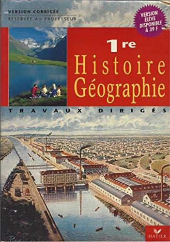Histoire geographie première td maitre
