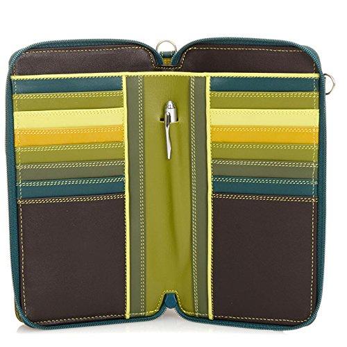 MyWalit Portefeuille Zip en cuir rond multi Sac à bandoulière 1220 Multicolore - Evergreen