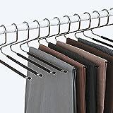 Ideaworks Lot de 12 - Cintre Pantalon - Pli Intelligent - Anti Glisse - Choix et Rangement Facile