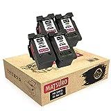 Matsuro Original | Kompatibel Remanufactured Tintenpatronen Ersatz für Canon PG-540XL CL-541XL PG-540 CL-541 (2 Sets)