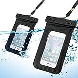 gearonic schwarz Wasserdichte Beutel Displayschutzfolie Skin Schutzhülle w/Arm Band für iPhone 44S 55S Galaxy S4S5
