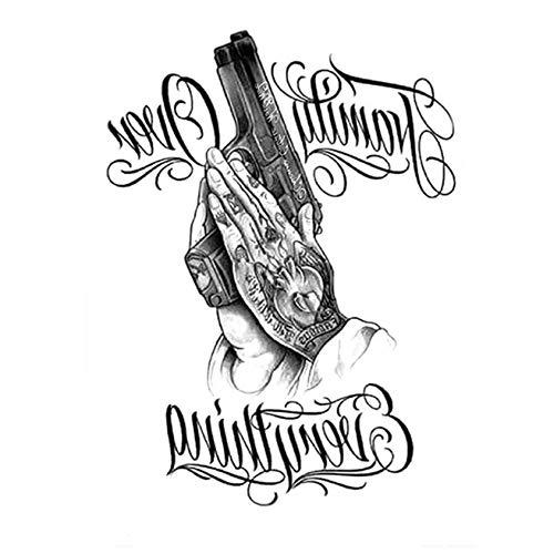 Tatuaggi temporanei bambini autoadesivo del tatuaggio temporaneo rose nere fiore del braccio dfull body art grande grande autoadesivo del tatuaggio falso 21 * 15cm 2pcs