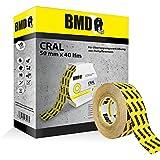 BMD - Cral Klebeband (Gelb - 50mm x 40lfm) zur Verklebung von Dampfsperrfolien, Dampfbremsfolien, Dampfbremse, Dampfsperre