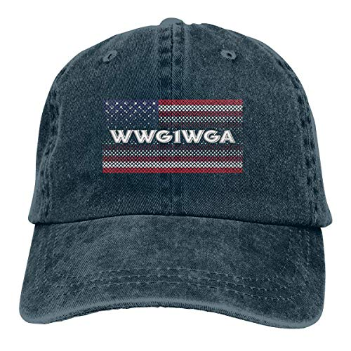 Qanon T-Shirt WWG1WGA American Flag Adjustable Sport Jeans Baseball Golf Cap Hat Unisex Style - Flag Fall Out Boy Shirt