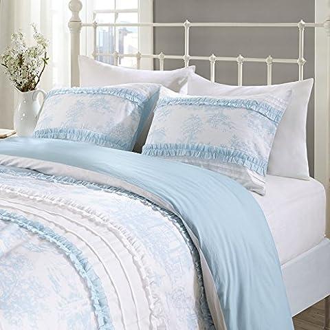URBAN HABITAT Lucy's Ruffle Duvet Cover and Pillowcase Set, 100%