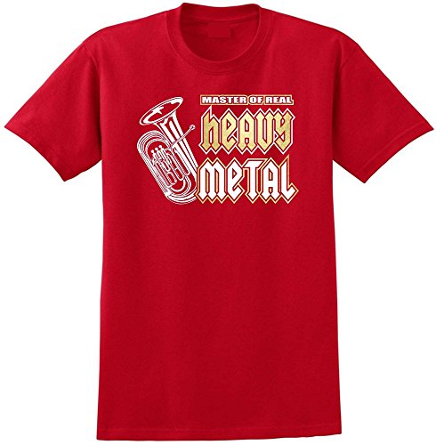 Tuba Masters Real Heavy Metal - Red Rot T Shirt Größe 104cm 42in Large MusicaliTee