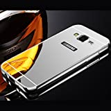 iPhone 5 / 5S / SE / 6 / 6S / 7 - Galaxy A3 2016 Case Housse Argenté Luxe Aluminium Miroir Metal Couverture - thinkmobile