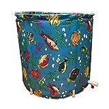 WURE Faltbare aufblasbare Badewannen-Plane-Erwachsenes Kind-Kind-Waschbecken-Ausgangs-Badezimmer-Produkt-Abnutzung/schmutziges / haltbares/Einfach zu säubern (70 * 65cm) (Farbe : Capping)