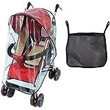 Burbuja de Lluvia - Protector contra Lluvia y Viento - Cubierta Impermeable para Silla de Paseo de Bebé y Carrito + una Bolsa Organizadora de Malla para Guardar Cosas de Bebé