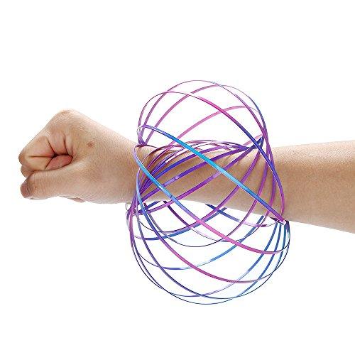 BZLine Magic Flow Ringe Energie Kinetic Frühling Spielzeug Sensory Interaktive Neuheit Coole Spielzeug (Mathe-charme)
