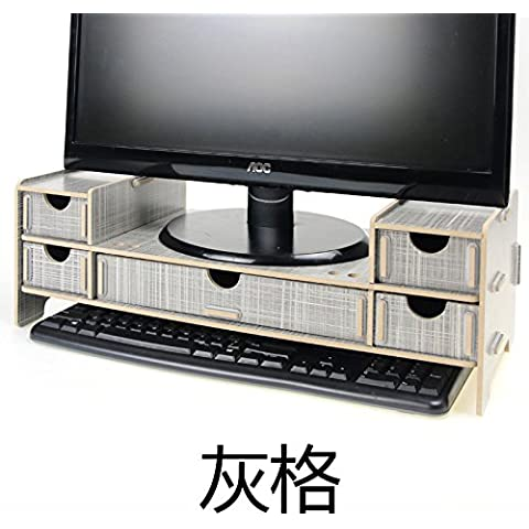 AQPDJ AQPDJ Los monitores de ordenador LCD Carpintero artes aumentar el soporte del bastidor de madera y escritorio con cajones simple admitir Racks , células