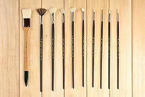 kit de pinceaux pour peinture pour la gouache peinture acrylique peinture l 39 huile ou. Black Bedroom Furniture Sets. Home Design Ideas