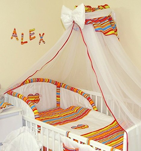 STUNNING BABY COT//COT BED CANOPY DRAPE// MOSQUITO NET BIG 485cm+HOLDER//ROD CLAMP