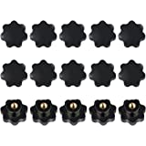 15 stuks stergreepmoer M8 van kunststof binnendraad klemmoer zwart voor gereedschapsmachine