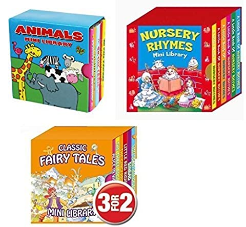 Mini Library Board Books - Bumper End of Season Sale - Special Gift Pack for Toddlers, Children, Babies - Nursery Rhymes Board Book - Fairy Board Book - Animal Board Book Mini Library - 18 Board Books Collection Set - RRP £15.96 - Yours for Just £9.99 - While Stock Lasts!