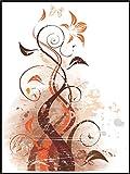 Fliesenaufkleber Fliesentattoos für Bad & Küche - NUR FÜR WEIßE FLIESEN - weißes Viereck als Hintergrund - Küchenfliesen für einzelne Fließen 15x20 cm - ME027 - Schön Blumen