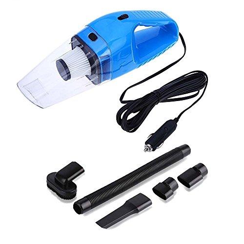 Blau Automatische Vakuum (HCMAX Handheld Auto-Staubsauger 12V Tragbar Nass / Trocken Automatisches Vakuum mit 16.4FT (5M) Netzkabel mit Zigarettenanzünder Blau)