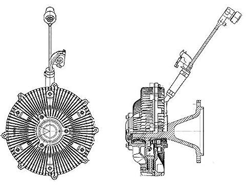 Hella 8MV 376 757-461 Clutch, Cooling Fan